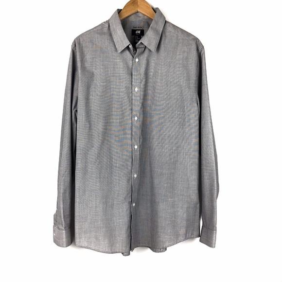 c9312b96090b H&M Shirts | Hm Slim Fit Long Sleeve Dress Shirt | Poshmark